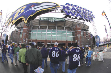 Baltimore ravens m t bank stadium parking for Restaurants m t bank stadium
