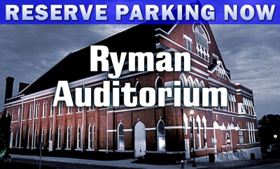 Ryman Auditorium parking nashville