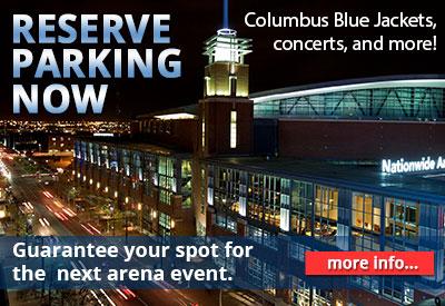 Nationwide Arena - Reserve Guaranteed Parking!