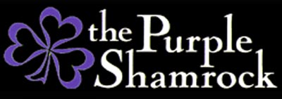 The Purple Shamrock Logo